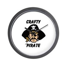 Crafty Pirate - Arts and Craf Wall Clock