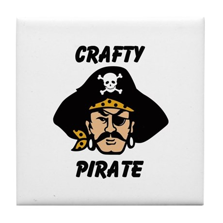 Crafty Pirate - Arts and Craf Tile Coaster