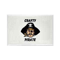 Crafty Pirate - Arts and Craf Rectangle Magnet (10