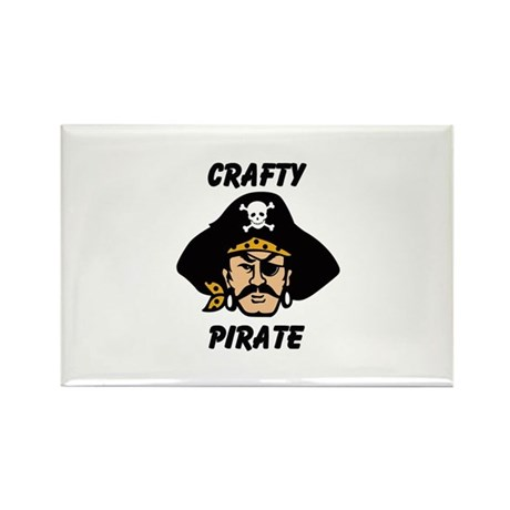 Crafty Pirate - Arts and Craf Rectangle Magnet