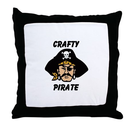 Crafty Pirate - Arts and Craf Throw Pillow