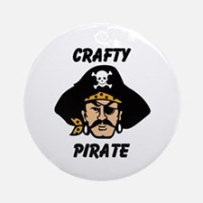 Crafty Pirate - Arts and Craf Ornament (Round)