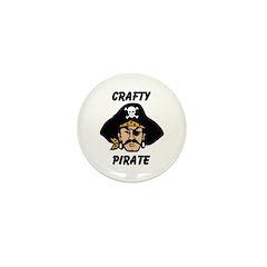 Crafty Pirate - Arts and Craf Mini Button (10 pack