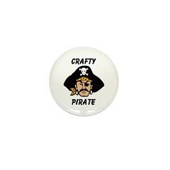 Crafty Pirate - Arts and Craf Mini Button (100 pac
