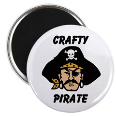 Crafty Pirate - Arts and Craf Magnet