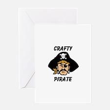Crafty Pirate - Arts and Craf Greeting Card