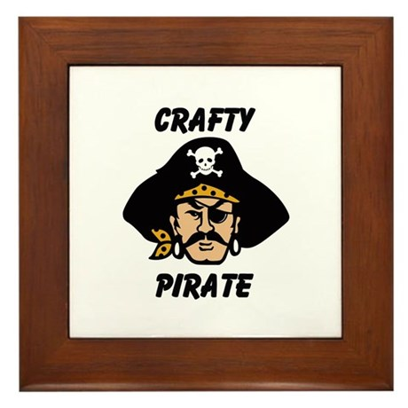 Crafty Pirate - Arts and Craf Framed Tile