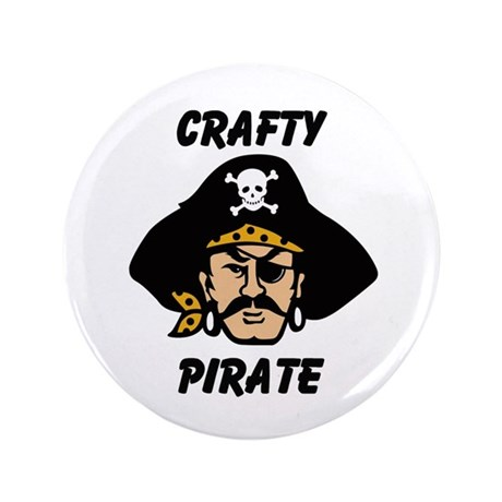 "Crafty Pirate - Arts and Craf 3.5"" Button (100 pac"