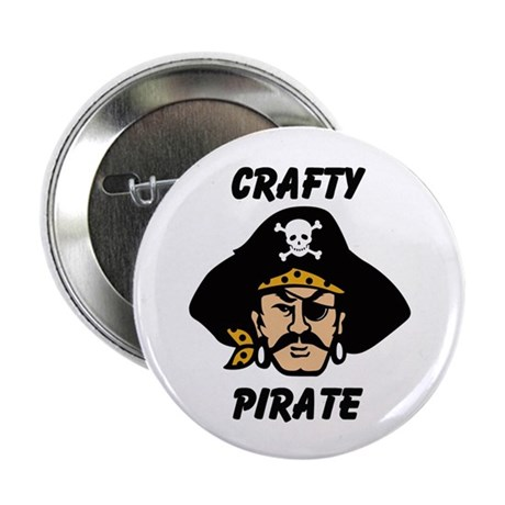 "Crafty Pirate - Arts and Craf 2.25"" Button"