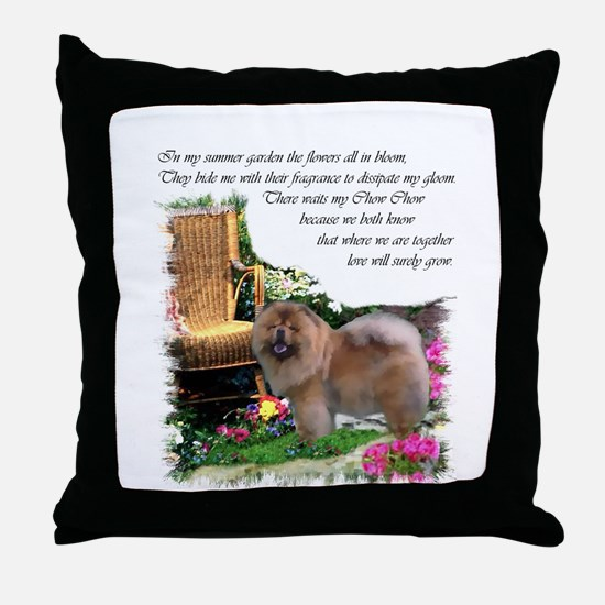 Chow Chow Art Throw Pillow