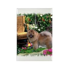 Chow Chow Art Rectangle Magnet (100 pack)