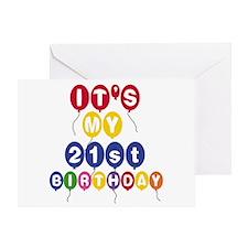 Balloons 21st Birthday Greeting Card