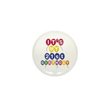 Balloons 21st Birthday Mini Button (10 pack)