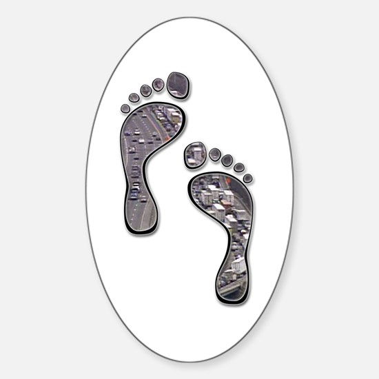 Foot Traffic Oval Decal