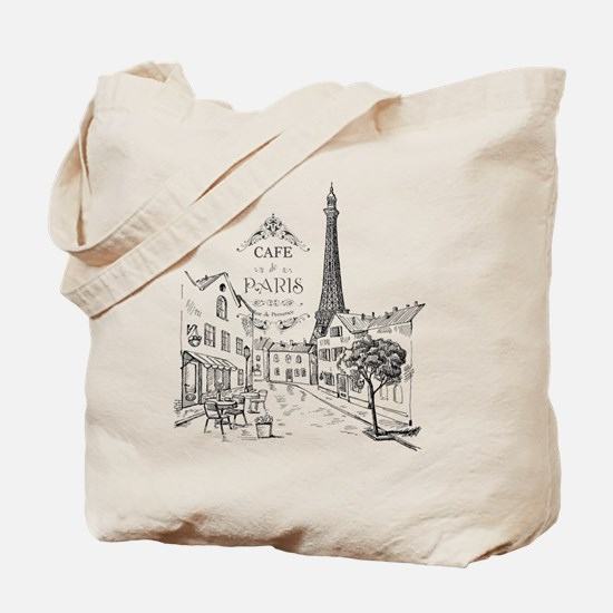 Cafe Paris Tote Bag