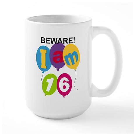 Beware 16th Birthday Large Mug