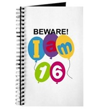 Beware 16th Birthday Journal