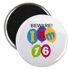 Beware 16th Birthday Magnet
