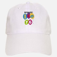 Beware 16th Birthday Baseball Baseball Cap
