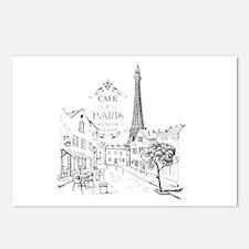 Cafe Paris Postcards (Package of 8)