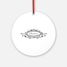 Seamstress - Victorian Ornament (Round)