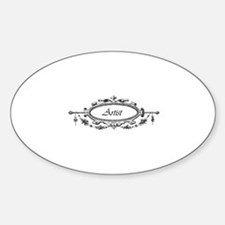 Artist - Victorian Filigree Oval Decal