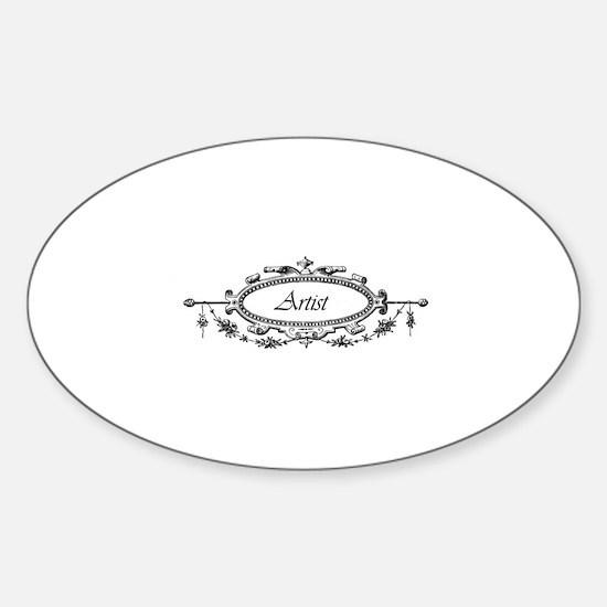 Artist - Victorian Filigree Oval Decal