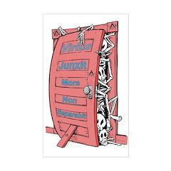 Masonic Skeletons in the Closet Sticker (Rectangu