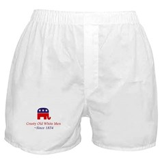 Crusty Old White Men Boxer Shorts
