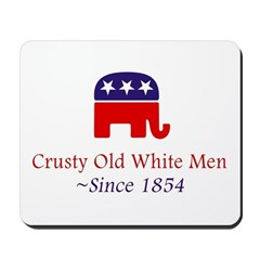 Crusty Old White Men Mousepad