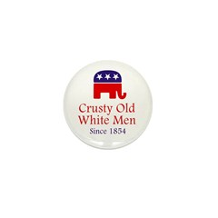 Crusty Old White Men Mini Button (10 pack)