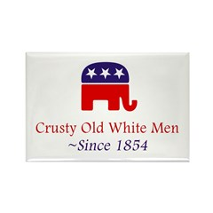 Crusty Old White Men Rectangle Magnet (10 pack)