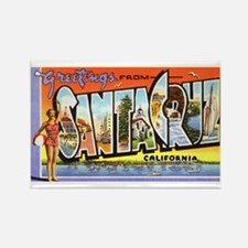 Santa Cruz California Greetings Rectangle Magnet (