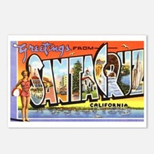 Santa Cruz California Greetings Postcards (Package