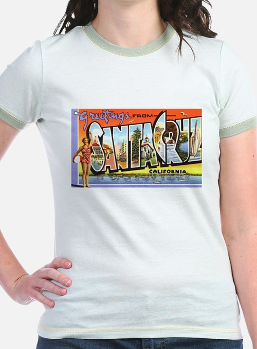 Santa Cruz California Greetings (Front) T