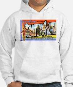 Santa Cruz California Greetings (Front) Hoodie