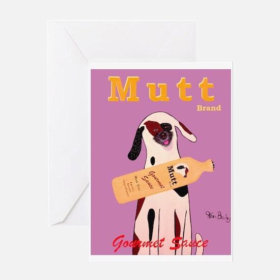 Mutt Brand Sauce Greeting Card