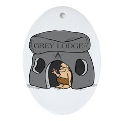Blue Lodge goes Gray Oval Ornament
