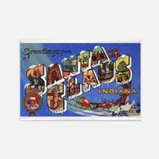 Santa Claus Indiana Greetings Rectangle Magnet (10