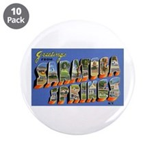 "Saratoga Springs New York 3.5"" Button (10 pack)"
