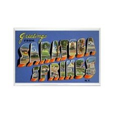 Saratoga Springs New York Rectangle Magnet
