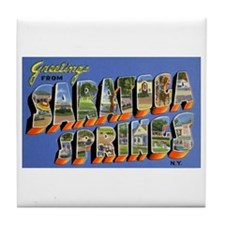 Saratoga Springs New York Tile Coaster