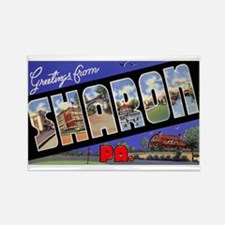 Sharon Pennsylvania Greetings Rectangle Magnet