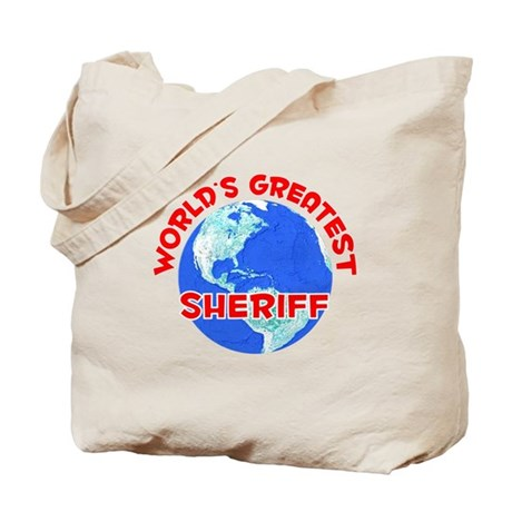 World's Greatest Sheriff (F) Tote Bag