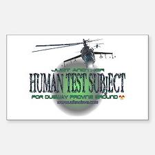 Human Test Subject Rectangle Decal