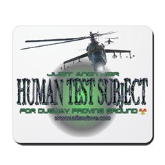 Human Test Subject Mousepad