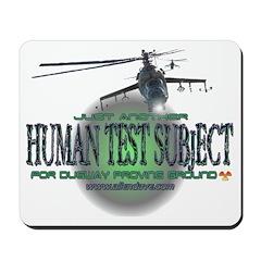 Human Test Subject Mousepad