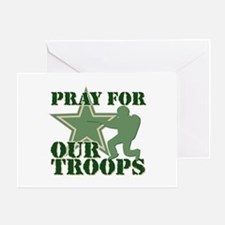 Pray for our troops Greeting Card