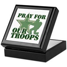 Pray for our troops Keepsake Box