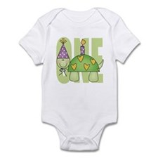 Baby First Birthday Turtle Infant Bodysuit